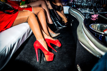 heels in limo