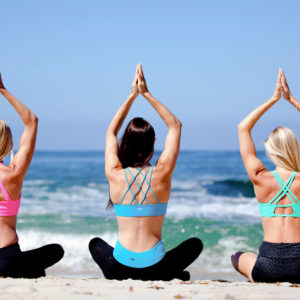 Miami Bachelorettes Bechside Yoga