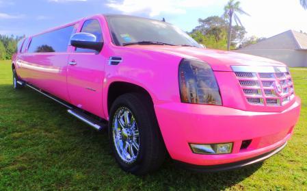 Pink Cadillac Escalade Miami