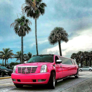 pink cadillac limo