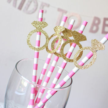 engagement ring straws